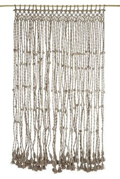 Jute macrame knot door curtain natural - Ha'veli (make from my vintage beads, or natural twine finger knitting!)