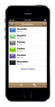 Great app to use to help with the envelope budgeting system. Going to start this today!!!