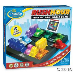 Buy ThinkFun Games Rush Hour Game from our View All Games & Puzzles range at John Lewis & Partners. Free Delivery on orders over Toys For Boys, Games For Kids, Kids Toys, Rush Hour Game, Traffic Jam Game, Hora Pico, Logic Games, Most Popular Games, Card Storage