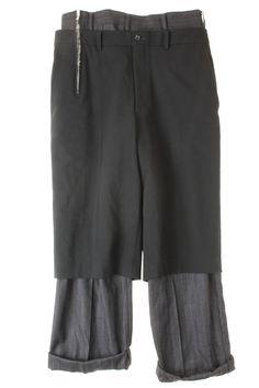 tromple l'oeil double layered trousers • comme des garçons¥ 8,232