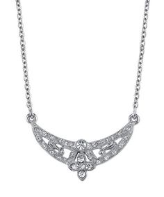 Look what I found on #zulily! Downton Abbey Silvertone & Crystal Floral Scallop Collar Necklace #zulilyfinds