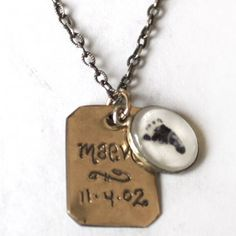 Page with Tiny Photo Necklace - LOVE this