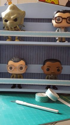 Funko POP shelf created from a spice rack. Perfect size.