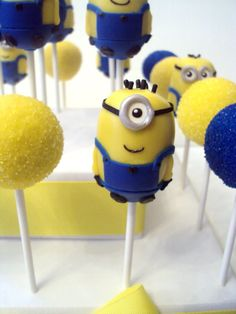 Cute Minion Cake Pops - For all your cake decorating supplies, visit craftcompany.co.uk