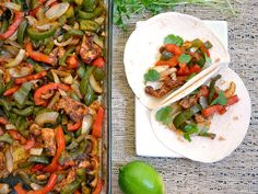 Oven Fajitas; this was a good recipe; next time, I will probably use a different seasoning mix, but the oven method was great!