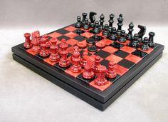 14 Chiellini Alabaster Red / Black Chess / Checkers Set #boardgames #familyboardgames