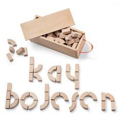 Alfabet blokken Kay Bojesen