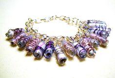 Recycled water bottle bracelet