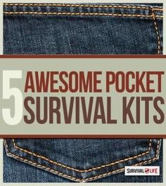 Survival: Pocket Size Survival Kits. Emergency preparedness kits for survival, with step by step tutorial. Survival Gear and Prepping Ideas | Survival Life | http://survivallife.com/2015/01/02/pocket-sized-survival-kits/