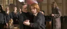 Hahaha! Ron dancing with Mcgonagall!Fred and George will never let him forget this!