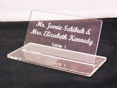 Acrylic Place Cards make a lasting impression Notary Supplies, Notary Seal, Table Signs, Fort Collins, Acrylic Colors, Weddingideas, Place Cards, Wedding Planning, Stamp