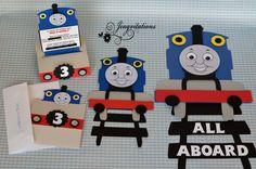 Thomas the Train Cricut Cartridge | Jingvitations: Thomas the Train Invitations, Banner, Door Sign and ...