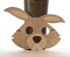 Rabbit Critter Mask Felt Animal Mask Kids Dress Up by iCROWNyou, $12.00