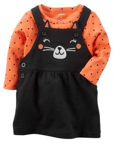 Baby Girl 2-Piece Halloween Bodysuit & Jumper Set from Carters.com. Shop clothing & accessories from a trusted name in kids, toddlers, and baby clothes.