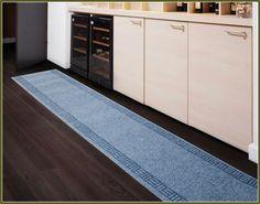 Blue Narrow Kitchen Runner Rug
