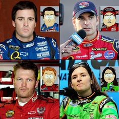 Jimmie Johnson, Jeff Gordon, Dale Earnhardt, Jr. and Danica Patrick appeared in a 2010 South Park episode.  Here are 15 more Sports Figures on South Park.