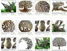 Kunst uit Haïti, gemaakt van een olievat. Plants, Etsy, Kunst, Plant, Planets