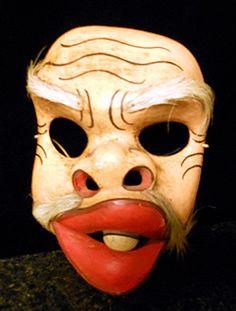 Balinese clown mask, Bali, Indonesia