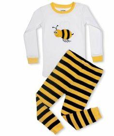 """Leveret """"Bumble Bee"""" 2 Piece Pajama 100% Cotton (18-24 Months) Leveret. $11.99"""