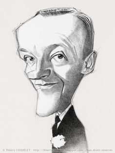 Fred-Astaire (caricature) His stage and subsequent film and television careers spanned a total of 76 years, during which he made 31 musical films and several award-winning television specials. He was named the fifth Greatest Male Star of Old Hollywood by the American Film Institute. He is best known as the dancing partner and on-screen romantic interest of Ginger Rogers - Dunway Enterprises: http://dunway.com - http://masterpaintingnow.com/how-to-draw-everything?hop=dunway