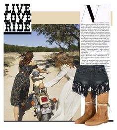 """""""LIVE, LOVE, RIDE"""" by karmaofcharmeofficial on Polyvore featuring moda, Ecote, Sans Souci, love, live e ride"""