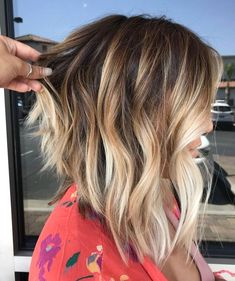 58 super hot long bob hairstyle ideas you want to cut your hair with right away . - nice 58 super hot long bob hairstyle ideas you want to cut your hair with immediately Wavy Hair, New Hair, Your Hair, Long Hair To Lob, Thick Hair, Curly Hair Styles, Medium Hair Styles, Medium Hair Cuts, Bronde Balayage
