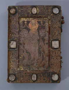 Ratmann Sacramentary (front cover) Date: 1159/restored 1400 Culture: German (Hildesheim, St. Michael's) Medium: Copper, partly gilded, and rock crystal over leather; manuscript: tempera, gold, and silver on parchment
