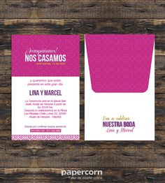 The 28 best papercorn online design workshop images on pinterest pink wedding invitation card and envelope printed original design of papercorn sale in stopboris Choice Image