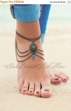 SALE 15% OFF anklet foot jewelry bronze by SlaveBraceletAndMore