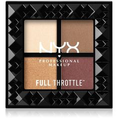 Nyx Professional Makeup Full Throttle Shadow Palette ($10) ❤ liked on Polyvore featuring beauty products, makeup, eye makeup, eyeshadow, beauty, daring damser, nyx eyeshadow, nyx, nyx eye shadow and palette eyeshadow