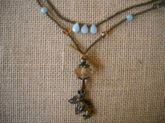 BEADED RABBIT PENDANT NECKLACE AVAILABLE ON ETSY SITE-VINTAGE PORTAL