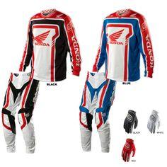 Troy Lee Designs - 2014 GP Air Honda Jersey, Pant Combo Motocross Store, Motocross Kit, Honda, Motorcycle Suit, Troy Lee, Vintage Motocross, Textiles, Riding Gear, Dirtbikes