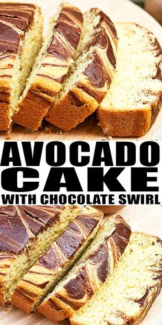 AVOCADO CAKE RECIPE- Quick, easy, soft, moist with chocolate swirls (marble cake). It has has no butter, no shortening, no margarine. It's a healthy cake because of the avocado puree and perfect for birthday parties. From CakeWhiz.com #avocado #cake #cakerecipe #dessert #dessertrecipes #chocolate #healthy #snack #birthday #party