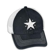 Republic of Texas Star - Black & White Cap [5626CPBK-WH] : Outhouse Designs Screen Print T-shirt Store, Keep Austin Weird!