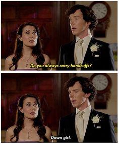 "#SherlockSpoilers -- ""The Sign of Three"" -- JANINE OMG (gif set)"