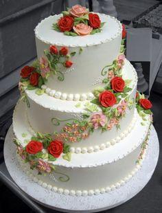 Wedding Cake Gallery — Three Tarts Bakery and Cafe Amazing Wedding Cakes, Elegant Wedding Cakes, Elegant Cakes, Wedding Cake Designs, Amazing Cakes, Gorgeous Cakes, Pretty Cakes, Fondant Cakes, Cupcake Cakes