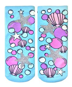 1ef5ef55f69 Living Royal Glitter Collection Women Girls Ankle Socks (Underwater)   mermaid Back To School