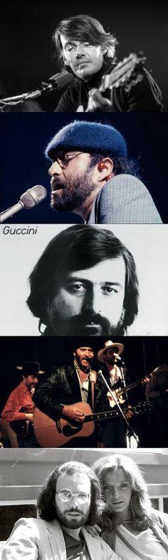 Cinque grandi cantautori italiani degli anni '70