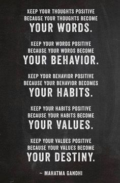 Positive thoughts matter
