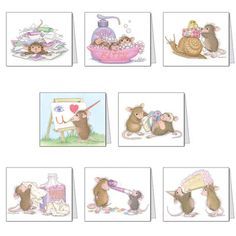 """""""8 Assorted Note Cards / 8 envs"""", Stock #: N-13, from House-Mouse Designs®. This item was recently purchased off from our web site, www.house-mouse.com. Click on the image to see more information."""