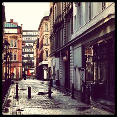 Back street near Waterstones, Deansgate in Manchester