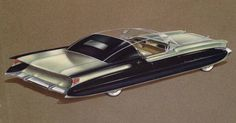 Ben Kroll or Richard Arbib, Packard proposed show-car, Solar Sports (never realized) ca. 1953. In the 1950s Packard did several very important show-cars. The 1956 Packard Predictor was the most important and their last show-car. Packard bought Studebaker in 1954 and struggled financially. By 1958 the heralded nameplate of Packard had disappeared.