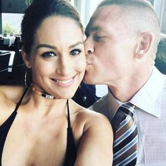 "Morning Smooch from Nikki Bella and John Cena's Love Story  ""Morning #BellaArmy Everyone please set your DVR's & tune in to #AmericanGrit tonight on @foxtv It's the season finale and truly just unforgettable! You won't want to miss it! Plus you gotta go support my one and only @johncena! PS Who thinks they can do what they do on there?! @americangritfox"""
