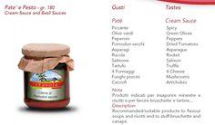 Cream Sauce and Basil Sauces