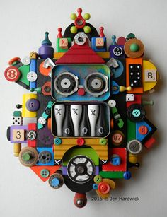 Recycled Assemblage  My Little Gnomie  Found Object by redhardwick $185.00 + shipping.