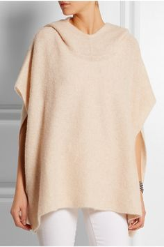 Beige cashmere and silk-blend Slips on 65% cashmere, 35% silk Dry clean Designer color: Almond