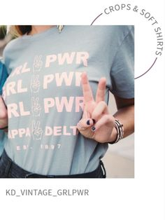 Geneologie   Kappa Delta   GRL PWR   Peace Sign   Greek Apparel   Bid Day Greek Apparel, Grl Pwr, Kappa Delta, Greek Clothing, Bid Day, The Girl Who, Good Books, Night Out, Peace