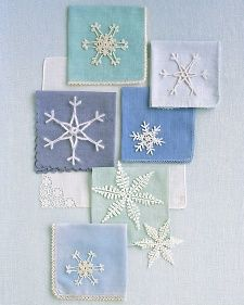 free pattern crocheted snowflakes