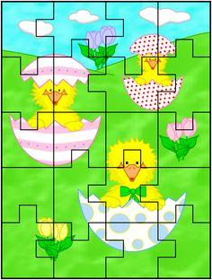 Puzzle Preschool Worksheets, Kindergarten Activities, Toddler Crafts, Happy Easter, Classroom, Printables, Holiday, Kids Learning Activities, Infant Activities