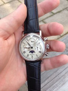 Sea Gull M199S Moon Phase Chronograph Automatic Watch | eBay